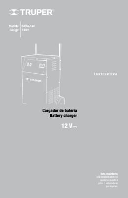 Cargador de batería Battery charger
