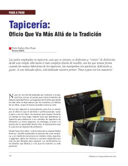 Tapicería: - Revista El Mueble y La Madera