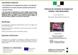 tapizado muebles madera - CPR de Navalmoral de la Mata