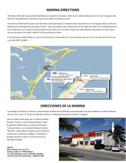 MARINA DIRECTIONS DIRECCIONES DE LA