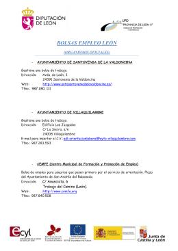 BOLSAS EMPLEO LEÓN - Diputación de León