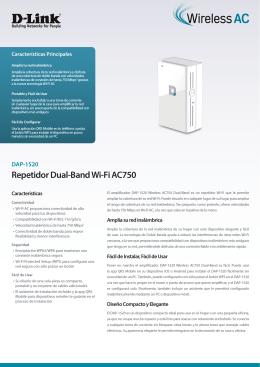 Repetidor Dual-Band Wi-Fi AC750 - D