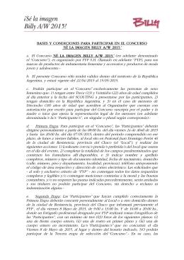 BASES Y CONDICIONES PARA PARTICIPAR EN EL CONCURSO