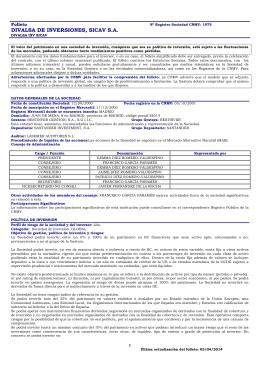 DIVALSA DE INVERSIONES, SICAV S.A.