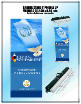 BANNER STAND TIPO ROLL UP MEDIDAS DE
