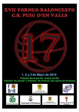 XVII TORNEO CB PUIG D´EN VALLS 1, 2 y 3 DE MAYO DE 2014