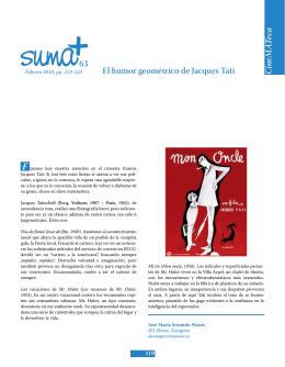 CineM A Teca 63 El humor geométrico de Jacques Tati