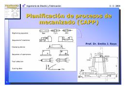 Planificación de Procesos de Mecanizado (CAPP)