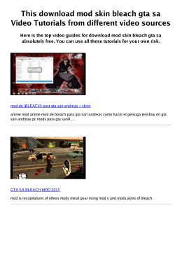 #Z mod skin bleach gta sa PDF video books