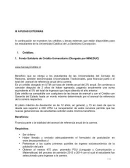 Becas y Créditos 2014 - Admisión y Registro Académico