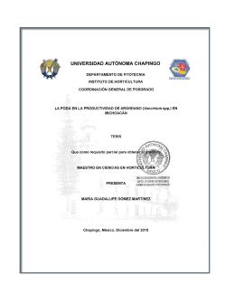 Vaccinium spp - Universidad Autónoma Chapingo