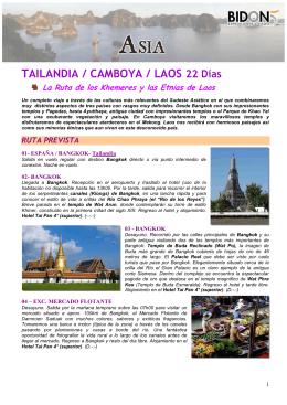 TAILANDIA / CAMBOYA / LAOS 22 Días