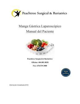 Manga Gástrica Laparoscópico Manual del Paciente