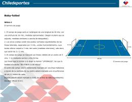 reglamento de baby fútbol