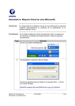 Desinstala la Máquina Virtual de Java (Microsoft).