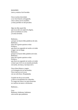 BAILEMOS Letra y música Coti Sorokin Cinco noches desvelado y
