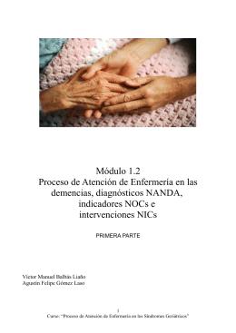 Módulo 1.2 Proceso de Atención de Enfermería en las demencias