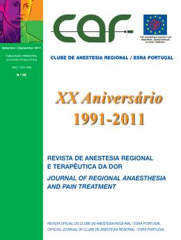 XX Aniversário 1991-2011 - Clube de Anestesia Regional