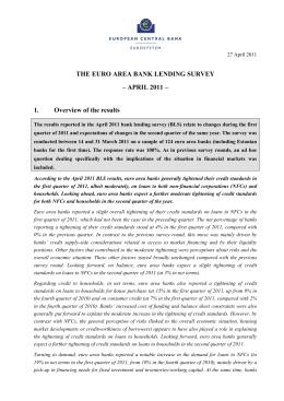 Bank lending survey 27 April 2011 - European Central Bank
