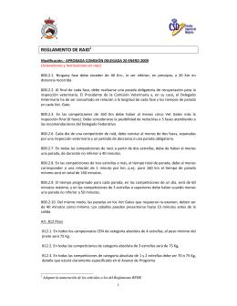 Modificaciones aprobadas RFHE al Reglamento Raid, adaptación