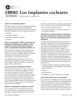 Los implantes cocleares