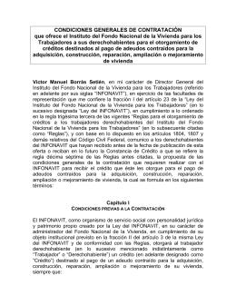 CONDICIONES GENERALES DE CONTRATACIÓN que