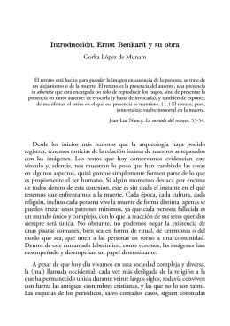 Introducción. Ernst Benkard y su obra Gorka López de Munain
