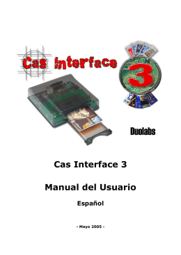 Cas Interface 3 Manual del Usuario Español
