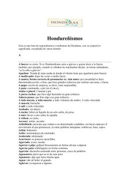 Hondureñismos - Centro de Documentación Turística de Honduras
