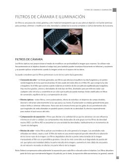 FILTROS DE CÁMARA E ILUMINACIÓN