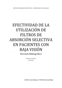 efectividad de la utilización de filtros de absorción