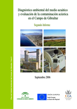 Plan de Calidad Ambiental de l C a mpo de Gibraltar. Fase II