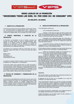 condiciones - Grupo VIPS
