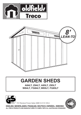 5587.Lean-To 8` Shed Manual - Maison