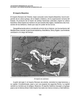 194 El imperio Bizantino El imperio Romano de Oriente