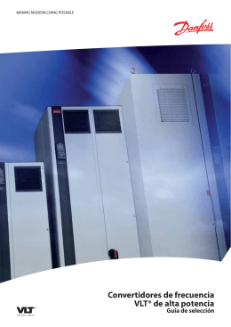 Convertidores de frecuencia VLT® de alta potencia