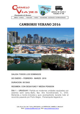 Promo CAMBORIU Verano 2016 - Click para ver