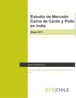 Estudios de Mercado 2011 (PMP) Cerdo y Pollo en India