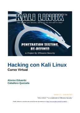 Hacking con Kali Linux - Alonso Caballero Quezada / ReYDeS