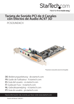 Tarjeta de Sonido PCI de 4 Canales con Efectos de Audio AC97 3D