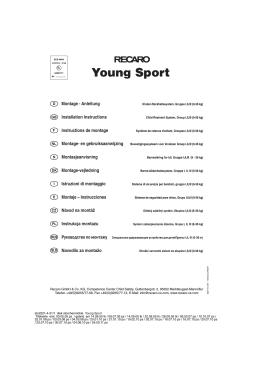 SillaCocheBebe.com | Manual de instrucciones | Recaro Young Sport