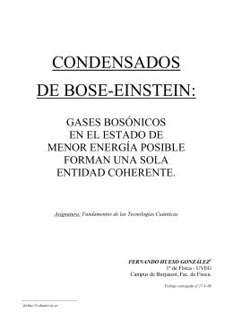 Condensados de Bose