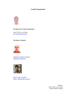 Comité Organizador - VIII Encuentro RED-M