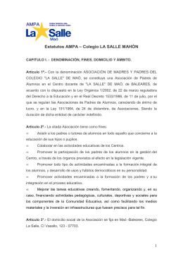 Estatutos AMPA – Colegio LA SALLE MAHÓN