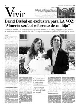 """David Bisbal en exclusiva para LA VOZ: """"Almería será el referente"""
