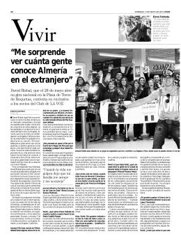 """""""Me sorprende ver cuánta gente conoce Almería en el extranjero"""""""