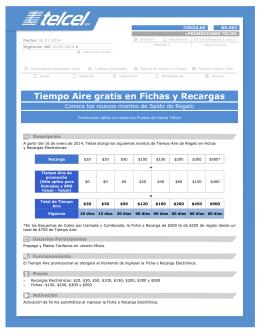 Tiempo Aire gratis en Fichas y Recargas