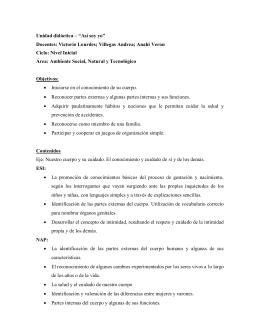 """Unidad didáctica – """"Así soy yo"""""""