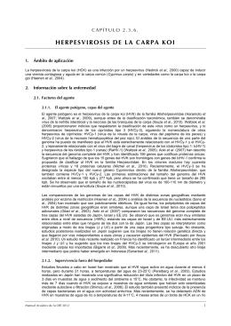 HERPESVIROSIS DE LA CARPA KOI
