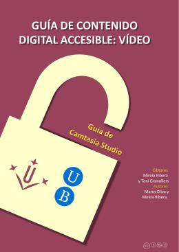 Guia Camtasia - El vídeo sense barreres a la universitat